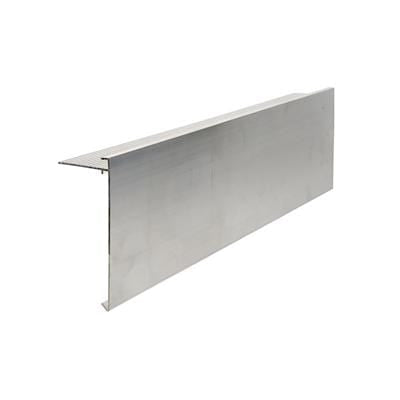 AF6 Aluminium Roof Edge Trim Mill Finish 150mm x 64mm x 3m - Ryno Outdoor & Garden