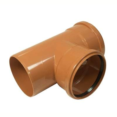 160mm T Junction Double Socket 87.5 Degree Bend - Floplast Drainage
