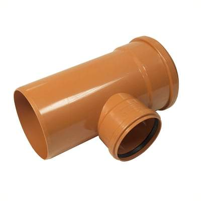 Unequal Junction Duble Socket 87.5 Degree x 160mm x 110mm - Floplast Drainage