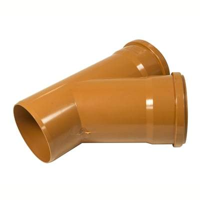 160mm Y Junction Double Socket 45 Degree - Floplast Drainage
