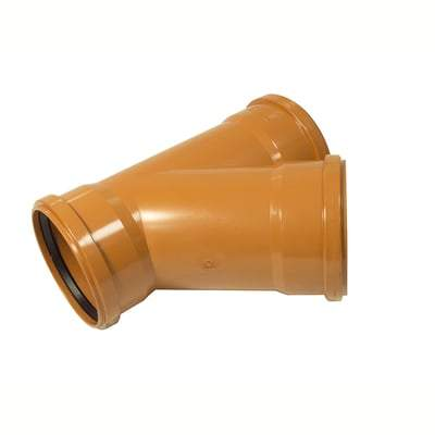 160mm Y Junction Triple Socket 45 Degree - Floplast Drainage