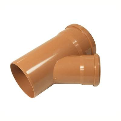 Unequal Junction Double Socket 45 Degree x 160mm x 110mm - Floplast Drainage