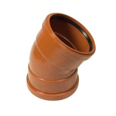 160mm Double Socket 30 Degree Bend - Floplast Drainage
