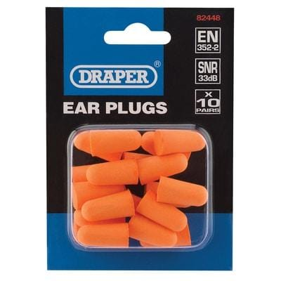 Ear Plugs (Pack of 10 Pairs) - Draper Tools and Workwear