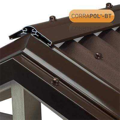 Image of Corrapol-BT Aluminium Super Ridge Bar Set - All Sizes & Colors - Clear Amber Roofing