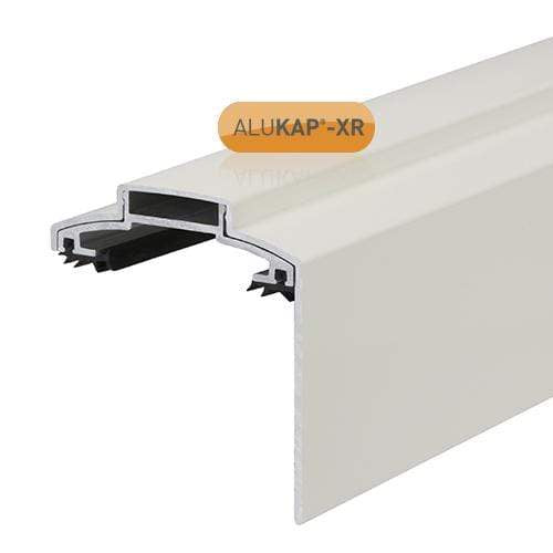 Alukap-XR 60mm Aluminium Gable Bar 3m No Rafter Gasket White and End Cap - Clear Amber Roofing