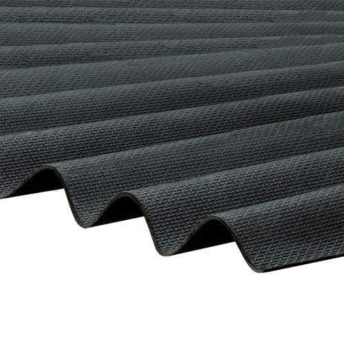 Corrapol-BT Corrugated Roofing Sheet 930 X 2000mm - Black - Clear Amber Roofing