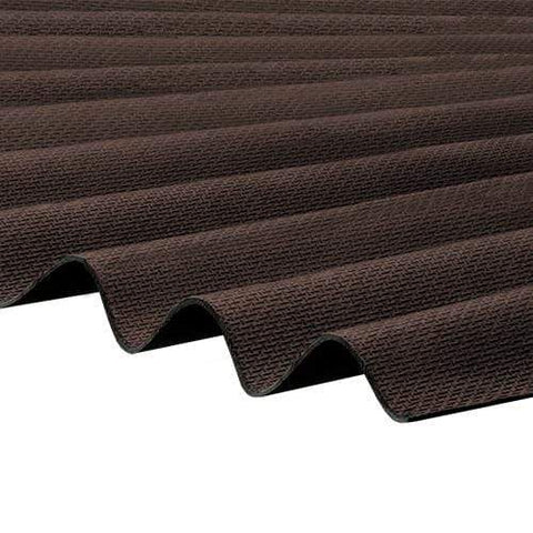 Image of Corrapol-BT Corrugated Roofing Sheet 930 X 2000mm - Brown - Clear Amber Roofing
