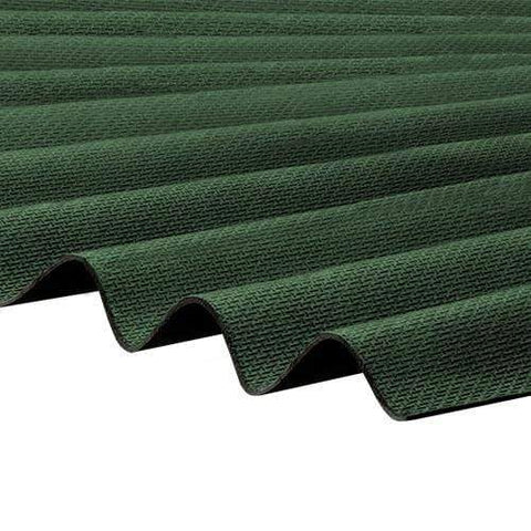 Image of Corrapol-BT Corrugated Roofing Sheet 930 X 2000mm - Green - Clear Amber Roofing