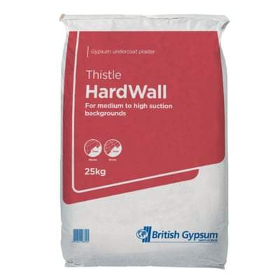 British Gypsum Thistle Hardwall Plaster 25Kg Bag - British Gypsum Building Materials