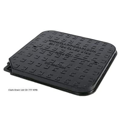 Iron Lid Manhole Cover and Frame 600 x 600 x 40mm (12.5 Tonne - B125) - Clark-Drain Drainage