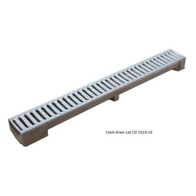 Galvanised Steel Low Profile Channel Drain 1000mm x 120mm x 75mm Class A15 (1.5 Tonne) - Clark-Drain Drainage