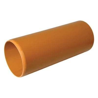 160mm x 6m Plain Ended ( P/E ) Underground Pipe - Floplast Drainage