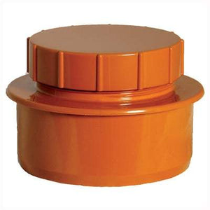 110mm Screwed Access Cap - Floplast Drainage