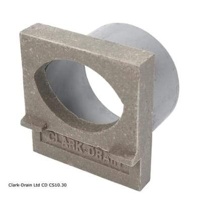 Domestic Channel 100mm Wide Outlet End Cap - Clark-Drain Drainage