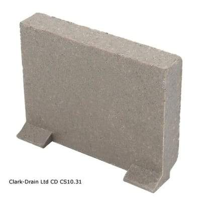 Domestic Channel  100mm Wide Plain End Cap - Clark-Drain Drainage