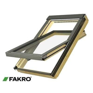FAKRO FTP-V P2 Natural Pine Ctr Pivot Window - All Sizes - Fakro Roofing