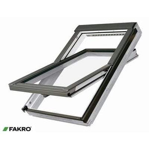 FAKRO FTU-V P2 Z-Wave White PU Coated Pine Ctr Pivot Window - All Sizes - Fakro Roofing