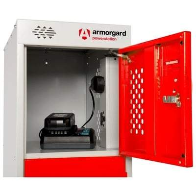 Image of Powerstation PWS6 - 6 & 10 Door Battery Charging Unit - Armorgard Tools and Workwear