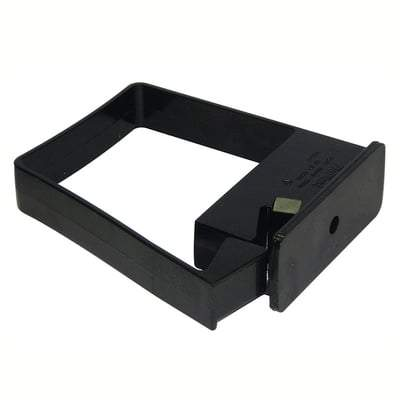 Image of Square Side Fix Pipe Clip Black 65mm - Floplast Drainage