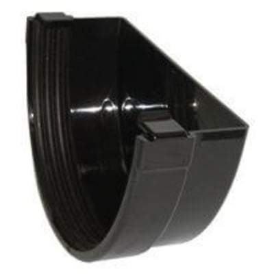 Image of Industrial / Xtraflo Gutter External Stop End - 170mm Black - Floplast Drainage