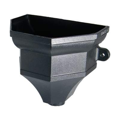 Image of Ogee Gutter Hopper - 65/68mm Cast Iron Effect - Floplast Drainage