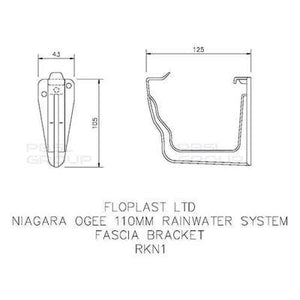 Ogee Gutter Fascia Bracket 110mm x 80mm - All Colors - Floplast Drainage