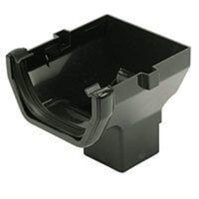 Square Gutter Stop End Outlet 114mm - All Colours - Floplast Drainage
