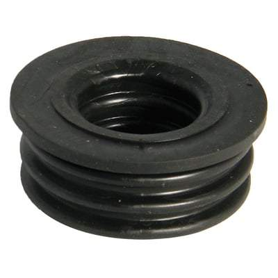 Image of Ring Seal Soil Rubber Boss Adaptor Black - All Sizes - Floplast Drainage