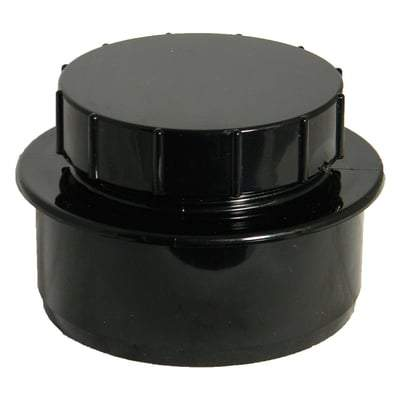 Image of Ring Seal Soil Access Plug - 110mm Black - Floplast Drainage