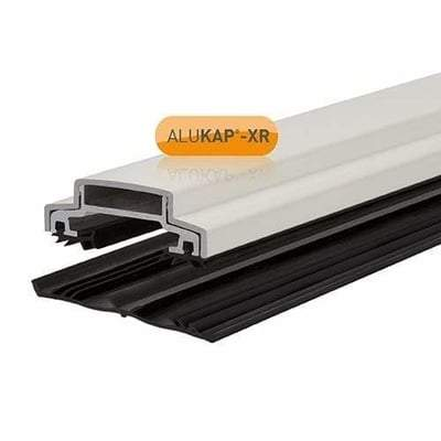 Alukap-XR 60mm Aluminium Bar 4.8m 55mm with Rafter Gasket and End Cap - Clear Amber Roofing