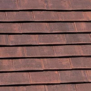 Marley Acme Double Camber Clay Plain Roof Tile Burnt Flame - Marley Roofing