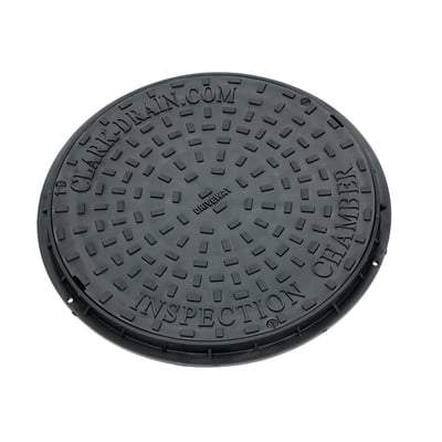 Inspection Chamber Circular Manhole Cover & Frame 450mm (3.5 ) Tonne - Clark Drain Drainage