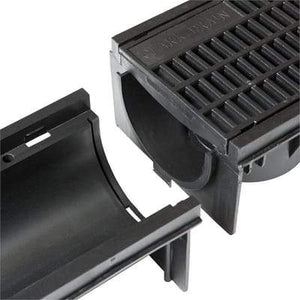 Shallow Domestic Channel & Mesh Grating - 1000mm x 148mm x 92mm - Clark-Drain Drainage