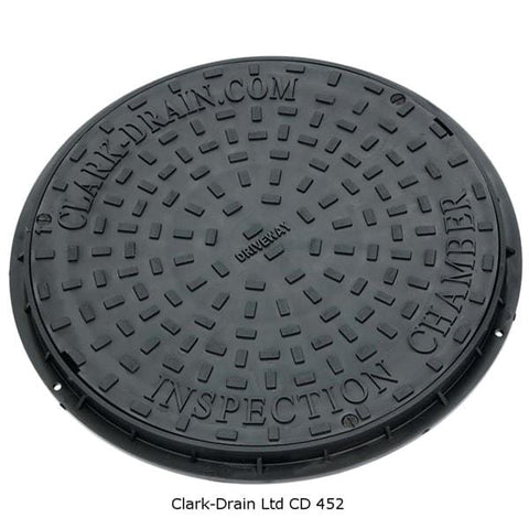 Inspection Chamber  Manhole Cover & Frame 450mm (3.5 Tonne) - Clark-Drain Drainage