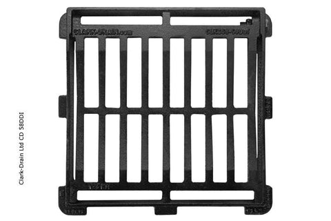 Cast Iron Hinged Gully Grid Cover 350 x 333 x 50mm Class B125 (12.5 Tonne) - Clark-Drain Drainage