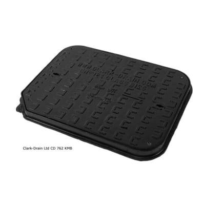 Cast Iron Manhole Cover and Frame Manhole Cover & Frame 600 x 450 x 40mm (12.5 Tonne - B125) - Clark-Drain Drainage