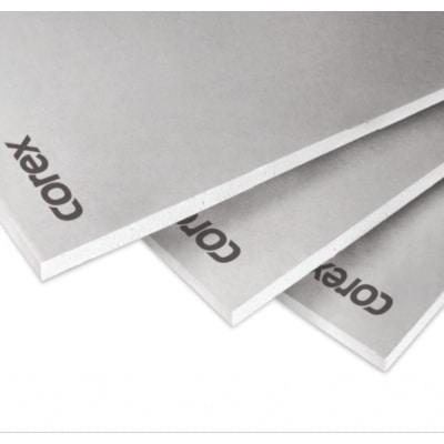 COREX White Plasterboard (All sizes) 2.4m x 1.2m - Corex Insulation Board