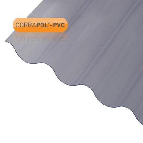 Image of Corrapol- PVC DIY Grade Sheet - All Sizes - Clear Amber Roofing