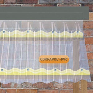 Corrapol- PVC DIY Grade Sheet - All Sizes - Clear Amber Roofing