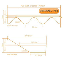 Load image into Gallery viewer, Corrapol- PVC DIY Grade Wall Flashing 950mm