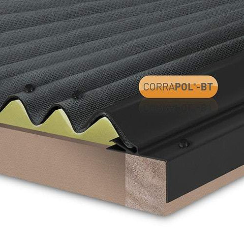 Corrapol-BT Rigid Rock n Lock Side Flashing Range - Clear Amber Roofing