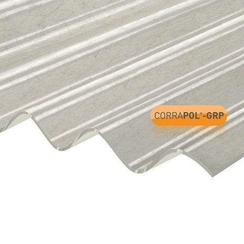 Image of Corrapol Polyester Sheet - 950mm X 2000mm - Clear Amber