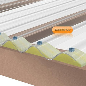 Corrapol Stormproof Roofing Sheet - All Sizes - Clear Amber Roofing