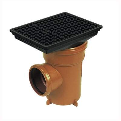 110mm Bottle Gully Rectangular Grid - Floplast Drainage