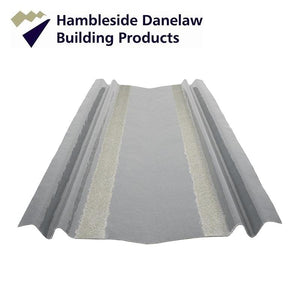 Hambleside Danelaw Narrow Open Valley Trough for Tile Roofs Without Retention Bar Lead Grey - Hambleside Danelaw Roofing