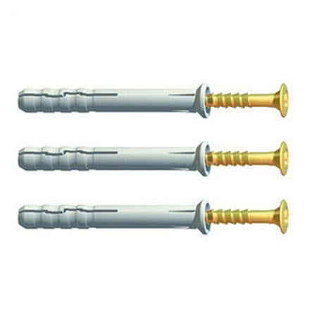 Copy of Extra Large Head Hammerfix Screws (Box Of 100) - All Sizes - vendor-unknown Nylon Hammer Fixings