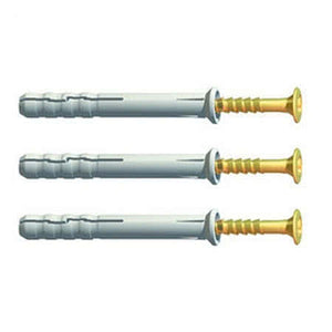 Extra Large Head Hammerfix Screws (Box Of 100) - All Sizes - vendor-unknown Nylon Hammer Fixings