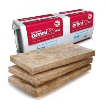 Knauf Earthwool OmniFit Slab 50mm x 400mm x 1200mm (5.76m2 pack) - Knauf Earthwool Insulation