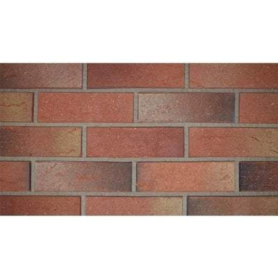 Lambourne Red Multi Mix Facing Brick 65mm x 215mm x 102mm (Pack of 520) - ET Clay Building Materials